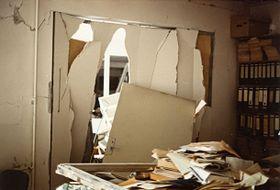 Bombenanschlag auf den Sender in München 1981 (Foto: Olga Kopecká, Archiv des Tschechischen Rundfunks)