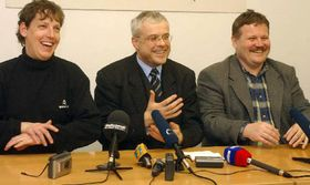 Станислав Гросс, Владимир Шпидла и Зденек Шкромах (Фото: ЧТК)