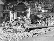 La aldea Desná después de la catástrofe, 18 de septiembre de 1916, foto: public domain