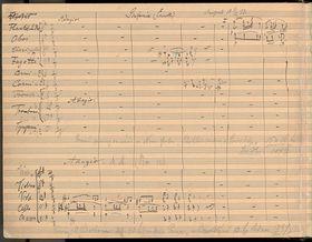 """Partitur der Symphonie """"Aus der Neuen Welt"""""""