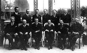 Účastníci ženevských jednání vříjnu 1918