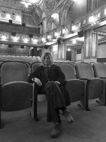 Teresa Costantini en la sala de cine Lucerna, foto: Ana Briceño