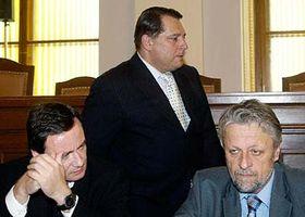 Zleva: David Rath, Jiří Paroubek aFrantišek Bublan, foto: ČTK