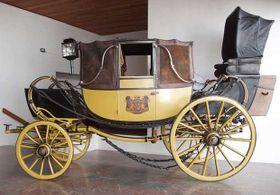 Le plus rare est un carrosse de luxe, type Landauer, jadis une propriété de la famille Wallenstein, qui faisait partie du cortège nuptial de la reine Victoria à Londres