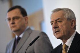 Petr Nečas et Leoš Heger, photo: CTK