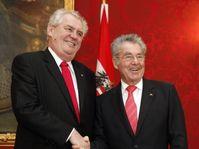 Miloš Zeman avec Heinz Fischer, photo: CTK