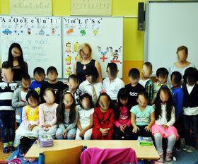 In einer Klasse in Teplice war ein hoher Anteil an Ausländerkinder (Foto: Facebook)