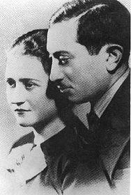 Simon Wiesenthal con su esposa Cyla (Foto: CTK)