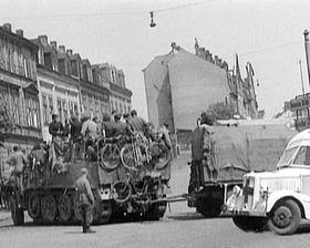 бегство немецких соединений в направлении Яхимова, фото: Česká televize