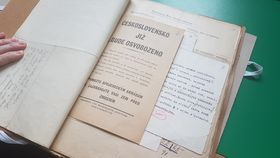 Archiválie kobdobí 2. světové války ve Státním okresním archivu vJihlavě, foto: Zdeňka Kuchyňová
