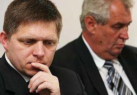 Robert Fico (a la izquierda) Foto: CTK