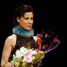 Tereza Podařilová avec le Prix Thalie, photo: CTK