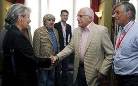 Meeting of Czech film producers and directors with President Vaclav Klaus, photo: CTK