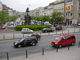 The view from the National Museum towards Wenceslas Square