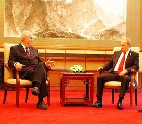 Милош Земан и Владимир Путин, фото: Яромир Марек, Чешское радио