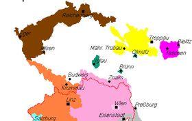 Deutschböhmen (Quelle: Wikimedia Commons, Public Domain)