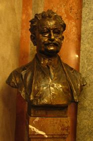 Leoš Janáček's bust in the National Theatre in Prague, photo: archive of Radio Prague