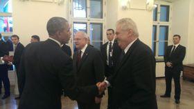 Barack Obama, Miloš Zeman, photo: CTK