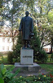 Statue of Adolf Heyduk in Písek