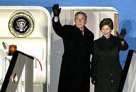 Laura y George Bush en Europa (Foto: CTK)