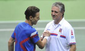 Tomáš Berdych et Jaroslav Navrátil, photo: ČTK