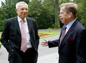 Vaclav Klaus y Vaclav Havel, Foto: CTK