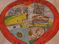 Primer premio en Obra Gráfica. 'Las mejores vacaciones son en Chequia'. Dan Pomahač, 11 aňos, Dover, EE.UU., foto: archivo de la competición 'Český Honza'