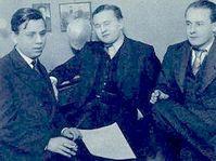 Jaroslav Ježek, Jan Werich, Jiří Voskovec