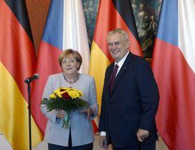 Angela Merkel et Miloš Zeman, photo: ČTK