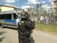 Les migrants au centre de rétention de Bělá pod Bezdězem, photo: ČT24
