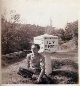 Jan Křížek à Saint Bonnet, 1948, photo: 'Jan Křížek - Mě z toho nesmí zmizet člověk'