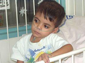 Abbas Asad, irácký chlapec, který se léčí vpražské Fakultní nemocnici vMotole, foto: autor