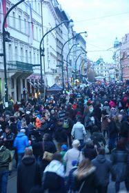 November 17, 2016, Národní třída, Prague, photo: Štěpánka Budková
