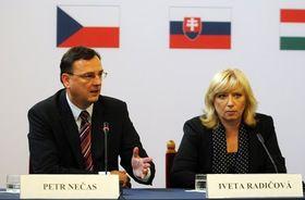 Petr Nečas und Iveta Radičová (Foto: ČTK)
