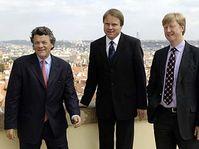 Jean-Louis Borloo, Martin Bursik, Andreas Carlgren, photo: CTK