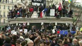 Demonstraciones en París, foto: ČT