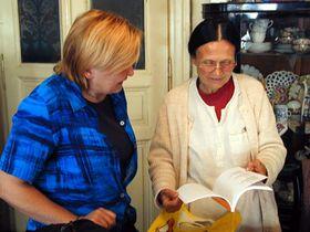 Bernie Higgins and Milena Hubschmannova (right)