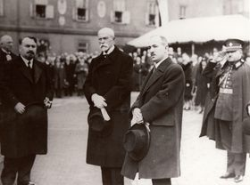 Tomáš Garrigue Masaryk et Edvard Beneš, photo: Archives de VHÚ