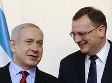 Benjamin Netanjahu (vlevo) a Petr Nečas, foto: ČTK