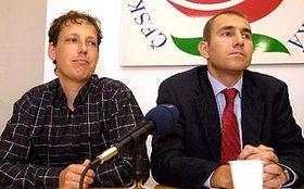 Předseda ČSSD Stanislav Gross (vlevo) aMartin Jahn, foto: ČTK