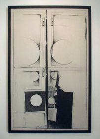 Ty Okno, 1980, fotoplátno/akryl/tuš, foto: Miroslav Krupička