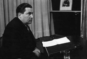 Jaroslav Seifert, foto: archivo de la Radiodifusión Checa
