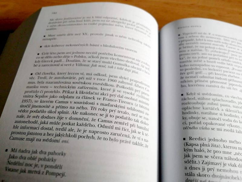 Jan Zábrana, 'La vie entière' / Torst