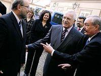 Zleva: Adolf Jílek, Václav Klaus a Přemysl Sobotka, foto: ČTK