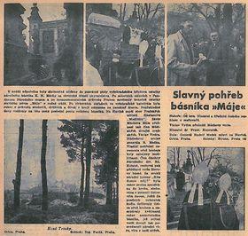 Газета Týden rozhlasu - май 1939 (фоторепортаж с церемонии перезахоронения), фото: Архив Чешского Радио