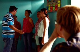 Taller de teatro en Guadalupe, foto: Tamara Allina
