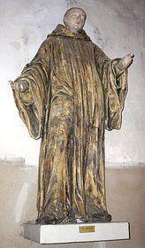 Statue des Hl. Maurus in der Kirche Bec Hellouin (Foto: Theoliane, Creative Commons 3.0)