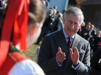 Princ Charles na návštěvě Hoštětína, foto: ČTK