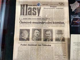 Выпуск газеты «Подкарпатские голоса», изданный после подписания Мюнхенского договора, фото: Ирина Ручкина
