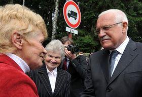 Marie Jeřábková et Václav Klaus, photo: CTK